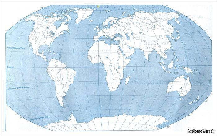 Контурна карта світу