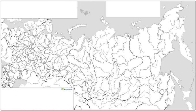 Контурная карта РФ [черно-белая]