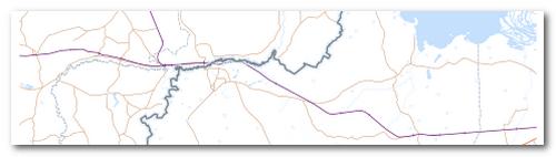 Контурная карта Печорского района