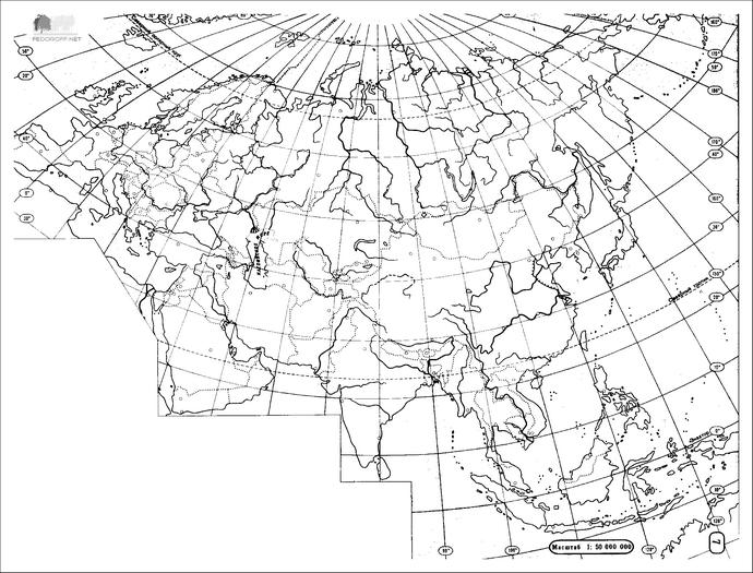 Контурные карты Евразии