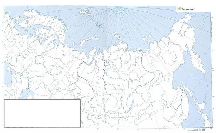 Контурная карта России 6 класса