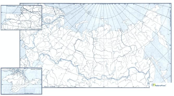 Контурная карта РФ по географии 8 класса
