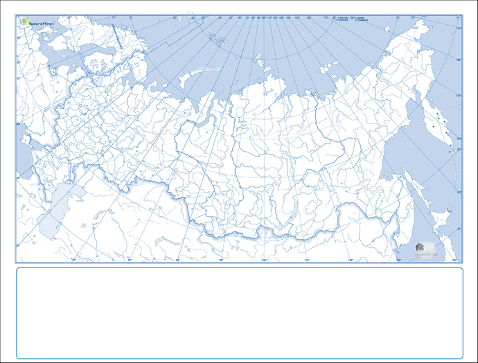 Контурная административная карта России