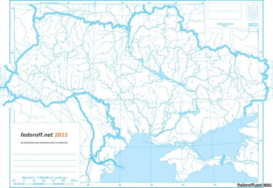 Карта полушарий земли контурная карта