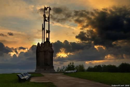 Земля Псковская. Памятник Александру Невскому.