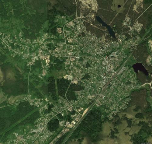 Фотография Струг-Красных со спутника