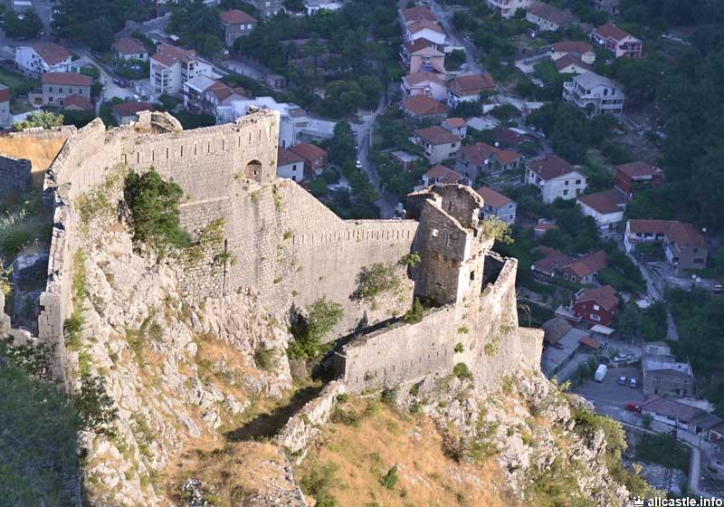 Котор крепость высота